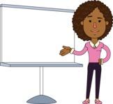 Minimalistic African American Girl Vector Character Design AKA Liana - Presentation 2