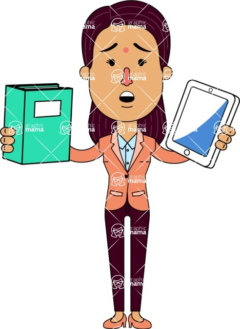Anika Hardworking - Book and iPad