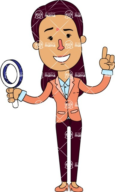 Flat Indian Girl Vector Character Design AKA Anika Hardworking - Search