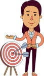 Flat Indian Girl Vector Character Design AKA Anika Hardworking - Target