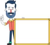 Minimalistic Man Vector Character Design AKA Justin - Presentation 5