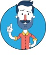Minimalistic Man Vector Character Design AKA Justin - Shape 1
