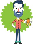 Minimalistic Man Vector Character Design AKA Justin - Shape 8