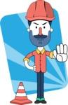 Minimalistic Man Vector Character Design AKA Justin - Shape 10