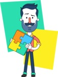 Minimalistic Man Vector Character Design AKA Justin - Shape 11