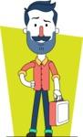 Minimalistic Man Vector Character Design AKA Justin - Shape 12
