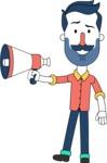 Minimalistic Man Vector Character Design AKA Justin - Loudspeaker