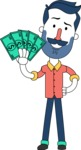 Minimalistic Man Vector Character Design AKA Justin - Show me the Money