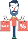 Minimalistic Man Vector Character Design AKA Justin - Sale2