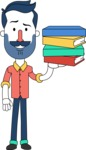 Minimalistic Man Vector Character Design AKA Justin - Book 2