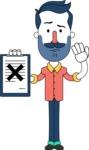 Minimalistic Man Vector Character Design AKA Justin - Notepad 4