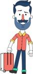 Minimalistic Man Vector Character Design AKA Justin - Travel 1