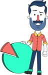 Minimalistic Man Vector Character Design AKA Justin - Chart