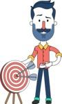 Minimalistic Man Vector Character Design AKA Justin - Target