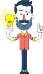 Minimalistic Man Vector Character Design AKA Justin - Idea 1