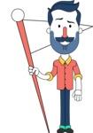 Minimalistic Man Vector Character Design AKA Justin - Checkpoint