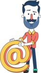 Minimalistic Man Vector Character Design AKA Justin - Email