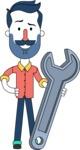 Minimalistic Man Vector Character Design AKA Justin - Repair