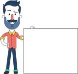 Minimalistic Man Vector Character Design AKA Justin - Sign 8
