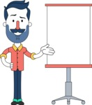 Minimalistic Man Vector Character Design AKA Justin - Presentation 1