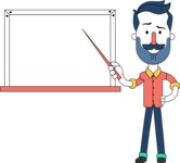 Minimalistic Man Vector Character Design AKA Justin - Presentation 3
