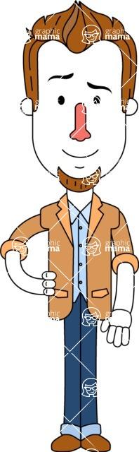Minimalist Businessman Vector Character Design AKA Ian Goatee - Normal