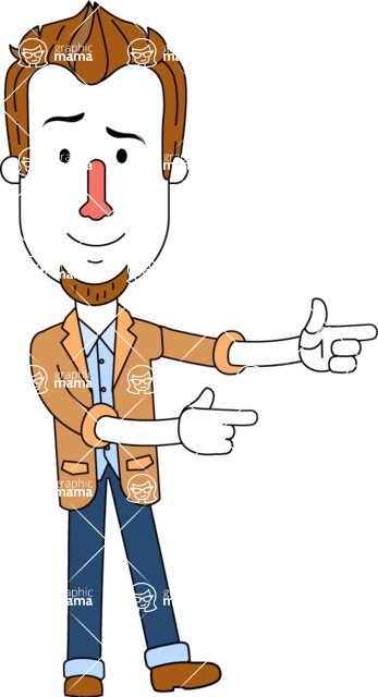 Minimalist Businessman Vector Character Design AKA Ian Goatee - Point2