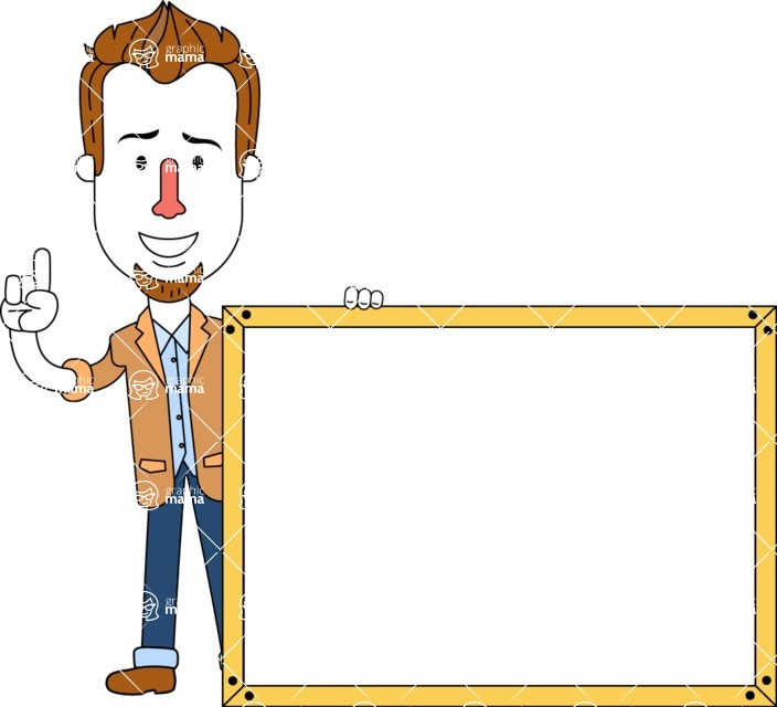 Minimalist Businessman Vector Character Design AKA Ian Goatee - Presentation 5