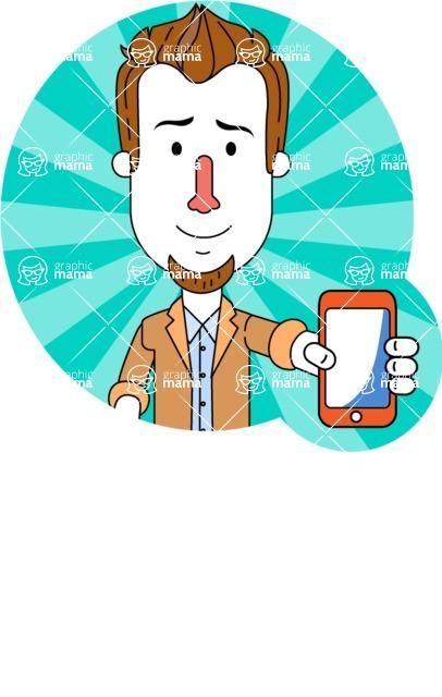 Minimalist Businessman Vector Character Design - Shape 1