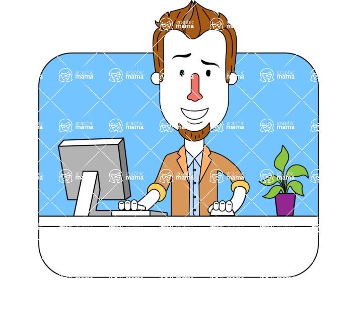 Minimalist Businessman Vector Character Design - Shape 3
