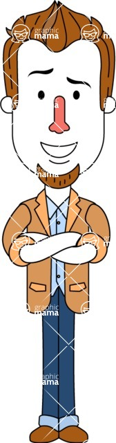 Minimalist Businessman Vector Character Design - Patient