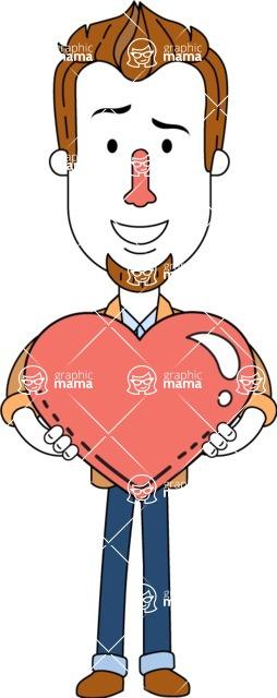 Minimalist Businessman Vector Character Design AKA Ian Goatee - Love