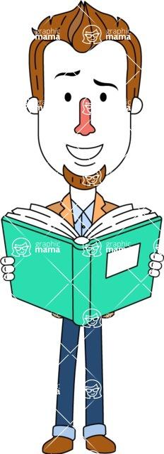 Minimalist Businessman Vector Character Design AKA Ian Goatee - Book 1