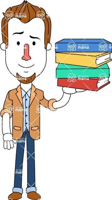 Minimalist Businessman Vector Character Design AKA Ian Goatee - Book 2