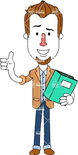 Minimalist Businessman Vector Character Design - Book 3