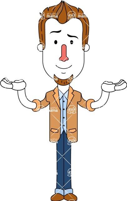 Minimalist Businessman Vector Character Design AKA Ian Goatee - Showcase 2