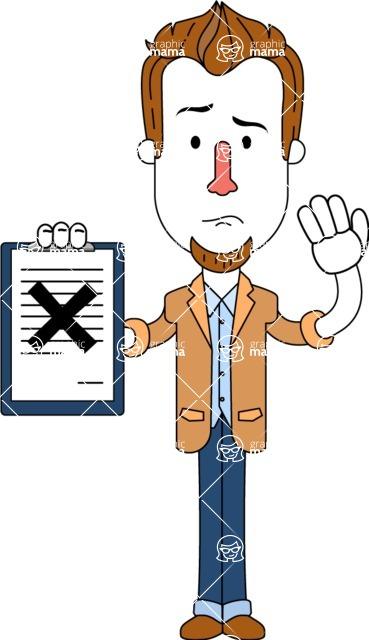 Minimalist Businessman Vector Character Design AKA Ian Goatee - Notepad 4