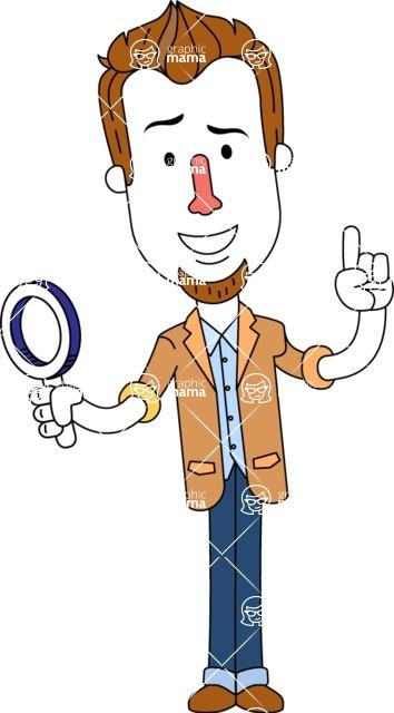 Minimalist Businessman Vector Character Design - Search