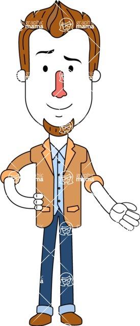 Minimalist Businessman Vector Character Design AKA Ian Goatee - Show