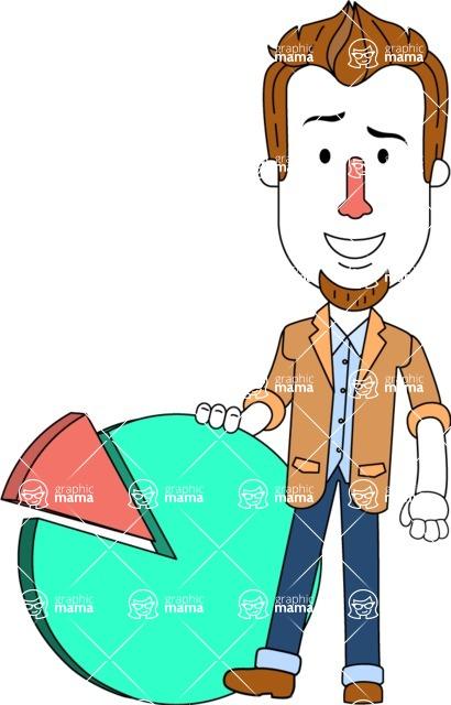 Minimalist Businessman Vector Character Design AKA Ian Goatee - Chart