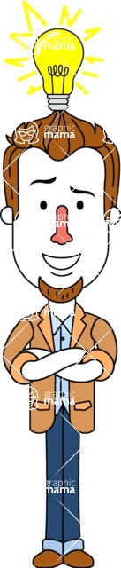 Minimalist Businessman Vector Character Design - Idea 2