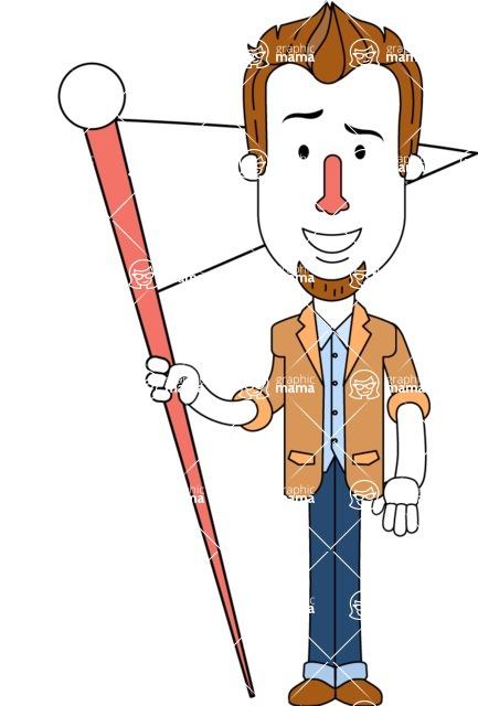 Minimalist Businessman Vector Character Design AKA Ian Goatee - Checkpoint