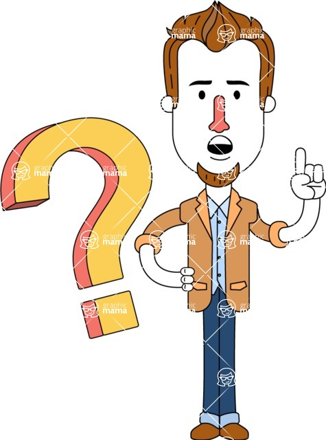 Minimalist Businessman Vector Character Design AKA Ian Goatee - Question