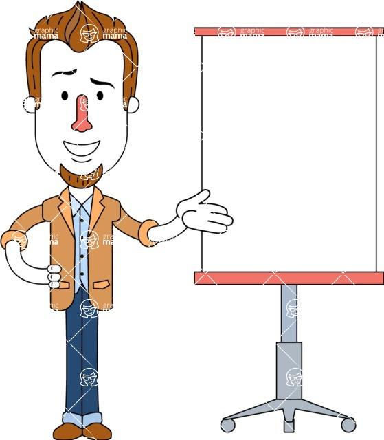 Minimalist Businessman Vector Character Design - Presentation 1