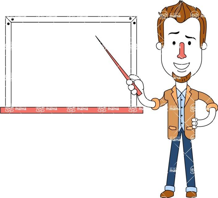 Minimalist Businessman Vector Character Design - Presentation 3