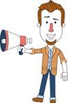 Minimalist Businessman Vector Character Design - Loudspeaker