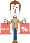 Minimalist Businessman Vector Character Design - Sale2