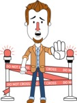 Minimalist Businessman Vector Character Design AKA Ian Goatee - Under Construction 2