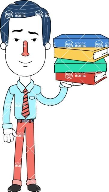 Flat Linear Employee Vector Character Design AKA Steve the Office Guy - Book 2