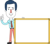 Flat Linear Employee Vector Character Design AKA Steve the Office Guy - Presentation 5